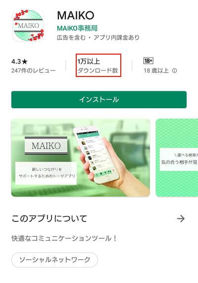 MAIKOのダウンロード状況