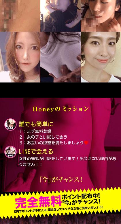 honeyは男目線で誘導していますがこれは昔からある危険な悪質出会い系サイトと同じ手法となっています